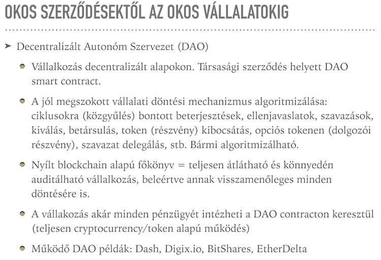 Decentralizált Autonóm Szervezet – I.) Mi az a DAO?