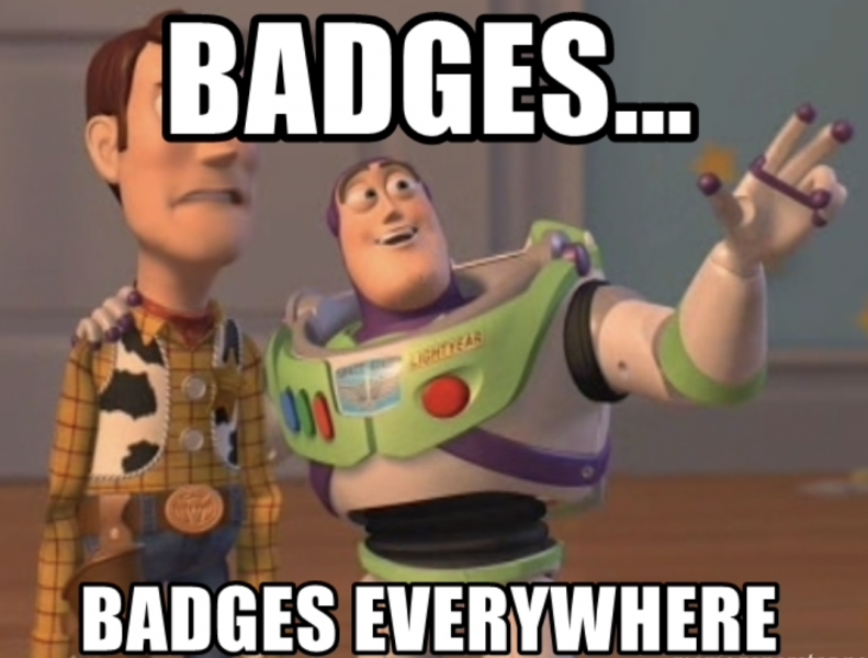 badges... badges everywhere